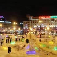 Елки и ледовые городки города 2020-2021 фотографии