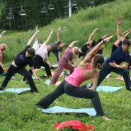 Открытые занятия по йоге в парке им. Лесоводов фотографии