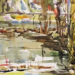 Выставка Юрия Бердышева «Акварель для души»
