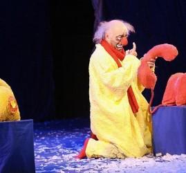 «Снежное» шоу Славы Полунина