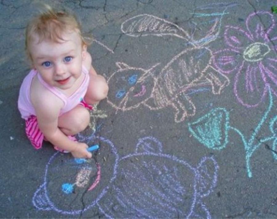 Конкурс рисунков наасфальте «Детство— это ты»