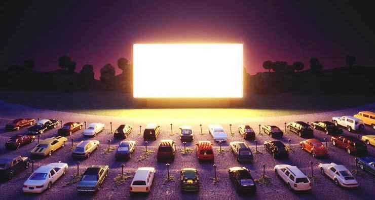 Кинотеатр встиле «Ретро» под открытым небом