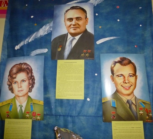 Выставка «Первому полёту вкосмос— 55 лет!»
